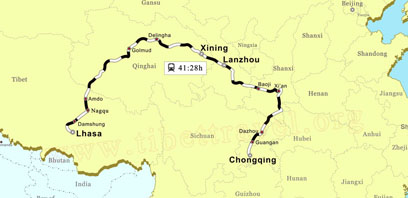 Chongqing to Lhasa Train