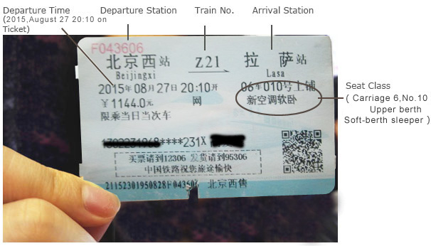 How to Read a Train ticket
