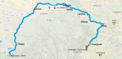 Lhasa to Chengdu Train and Lhasa to Chengdu Train Schedule