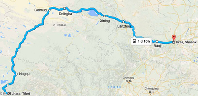 Lhasa to Xian Train and Lhasa to Xian Train Schedule